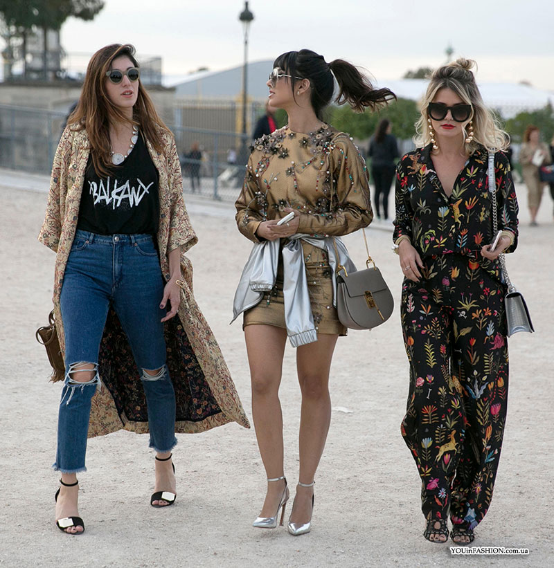 Paris Fashion Week tavasz-nyár 2017 street style